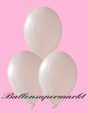 Luftballons Metallic, Latexballons in metallischen weißen Farben, 100 Stück Rundballons Metallik