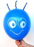 Blauer Marsi Luftballon