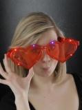 LED Jumbo-Herzbrille rot