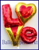 Love Cluster, Luftballon der Liebe, Deko-Luftballon aus Folie inklusive Helium