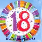 Luftballon Radiant Birthday, Geburtstag 18