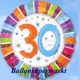 Luftballon Radiant Birthday, Geburtstag 30