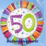 Luftballon Radiant Birthday, Geburtstag 50