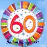 Luftballon Radiant Birthday, Geburtstag 60