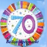 Luftballon Radiant Birthday, Geburtstag 70