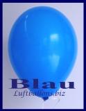 Luftballons, Rundballons in 25 cm, Blau, 100 Stück