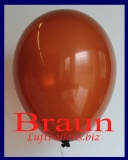 Luftballons, Rundballons in 25 cm, Braun, 100 Stück