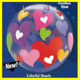 Bubble-Luftballon, Bunte Herzen, Colorful Hearts