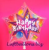 Bubble-Luftballon, Happy Birthday Star, Balloons