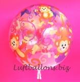 Bubble-Luftballon, turnende Äffchen, mit Helium