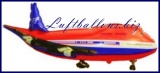Flugzeug Luftballon mit Helium