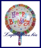 Luftballon Radiant Birthday, Geburtstag