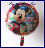 Happy Birthday Micky Maus, Folien-Luftballon mit Helium zum Geburtstag