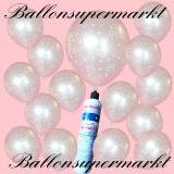 Luftballons-Helium-Set-Luftballons Helium Set, Miniflasche, Latex-Luftballons mit der Zahl 25 Silberhochzeit