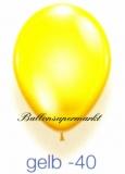 Deko-Luftballons, Kristallfarben, Gelb, 28-30 cm, 25 Stück
