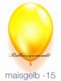 Deko-Luftballons, Kristallfarben, Maisgelb, 28-30 cm, 25 Stück