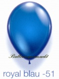 Deko-Luftballons, Kristallfarben, Royal Blau, 28-30 cm, 25 Stück