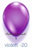 Deko-Luftballons, Kristallfarben, Violett, 28-30 cm, 25 Stück