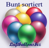 Deko-Luftballons, Metallicfarben, Bunt Sortiert, 90/100 cm, 100 Stück, Serie 2