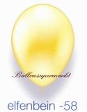 Deko-Luftballons, Metallicfarben, Elfenbein, 28-30 cm, 25 Stück