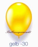 Deko-Luftballons, Metallicfarben, Gelb, 28-30 cm, 25 Stück