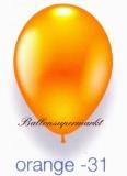 Deko-Luftballons, Metallicfarben, Orange, 28-30 cm, 25 Stück
