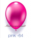 Deko-Luftballons, Metallicfarben, Pink, 28-30 cm, 25 Stück