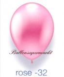 Deko-Luftballons, Metallicfarben, Rosé, 28-30 cm, 25 Stück