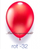 Deko-Luftballons, Metallicfarben, Rot, 28-30 cm, 100 Stück