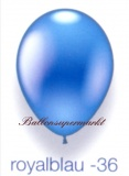 Deko-Luftballons, Metallicfarben, Royalblau, 28-30 cm, 25 Stück
