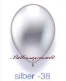 Deko-Luftballons, Metallicfarben, Silber, 28-30 cm, 25 Stück