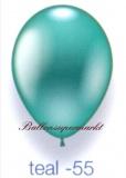 Deko-Luftballons, Metallicfarben, Teal, 28-30 cm, 50 Stück