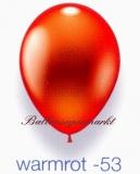 Deko-Luftballons, Metallicfarben, Warmrot, 28-30 cm, 25 Stück