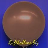 Großer Luftballon, Rund, 48-51 cm, Farbe Mokka-Braun