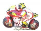 Motorrad Luftballon mit Helium, Rot