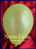 Luftballons Neon, Rundballons in 18-20 cm, Grün, 100 Stück