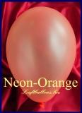 Luftballons Neon, Rundballons in 18-20 cm, Orange, 50 Stück