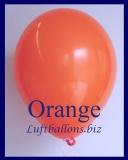 Luftballons, Rundballons in 25 cm, Orange, 100 Stück
