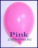 Luftballons, Rundballons in 25 cm, Pink, 100 Stück