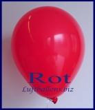 Luftballons, Rundballons in 25 cm, Rot, 100 Stück