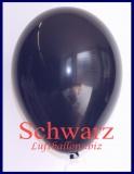 Luftballons, Rundballons in 25 cm, Schwarz, 100 Stück