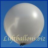 Großer Luftballon, Rund, 48-51 cm, Farbe Silber