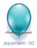 Deko-Luftballons, Standardfarben, Aquamarin, 28-30 cm, 25 Stück