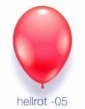 Deko-Luftballons, Standardfarben, Hellrot, 28-30 cm, 25 Stück