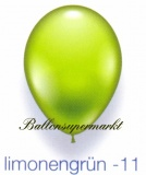 Deko-Luftballons, Standardfarben, Limonengrün, 28-30 cm, 1000 Stück