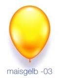 Deko-Luftballons, Standardfarben, Maisgelb, 28-30 cm, 25 Stück
