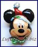 Luftballon Weihnachten, Micky Maus als Weihnachtsmann, Großer Folien-Luftballon