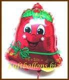 Luftballon zu Weihnachten, Weihnachtsglocke, Weihnachtsballon, Weihnachtsdekoration
