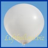 Großer Luftballon, Rund, 48-51 cm, Farbe Weiß