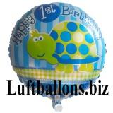 Partydekoration zum 1. Geburtstag, Folien-Luftballon, Schildkröte, Happy 1st Birthday